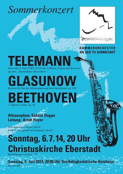 Konzertinfo 5./6. Juli 2014