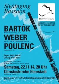 """""""S(w)inging Bassoon"""" Programm des Kammerorchesters an der TUD"""