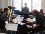 2015-11 Probe Jazz-Suite mit Solisten und Komponist Jürgen Wuchner (Foto: S. Gerspach)
