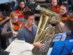 2015-11 Probe Jazz-Suite mit Tuba-Solist Ole Heiland (Foto: S. Gerspach)