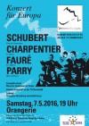 """Flyer """"Konzert für Europa"""""""